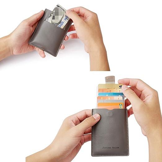 Amazon.com: Cartera minimalista de cuero RFID – Tarjetero ...