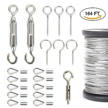 Amazon.com : AUSPA Outdoor Lights Hanging Kit, String Lights ...
