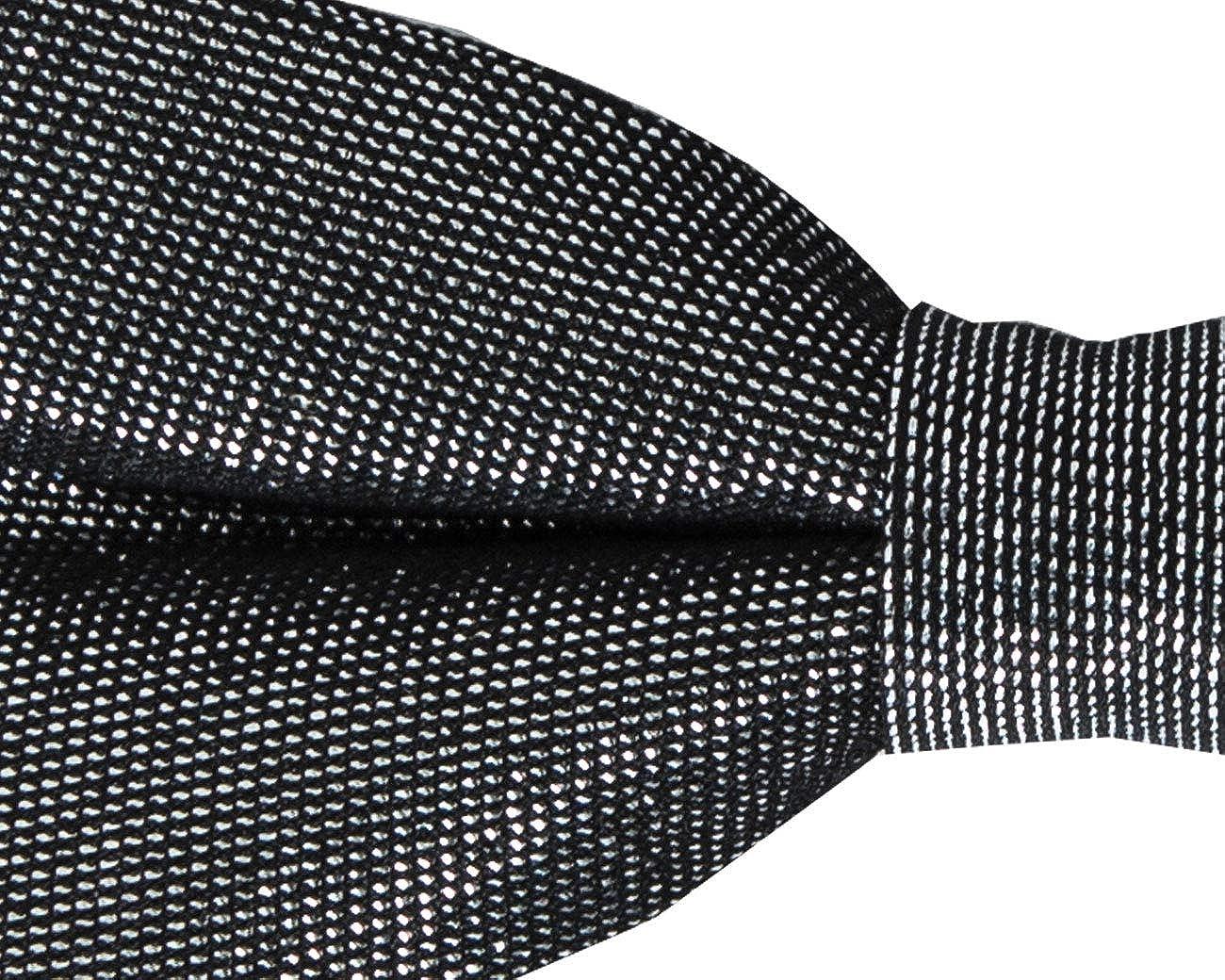 Dobell Mens Silver Bow Tie Glitter Detail Pre-Tied
