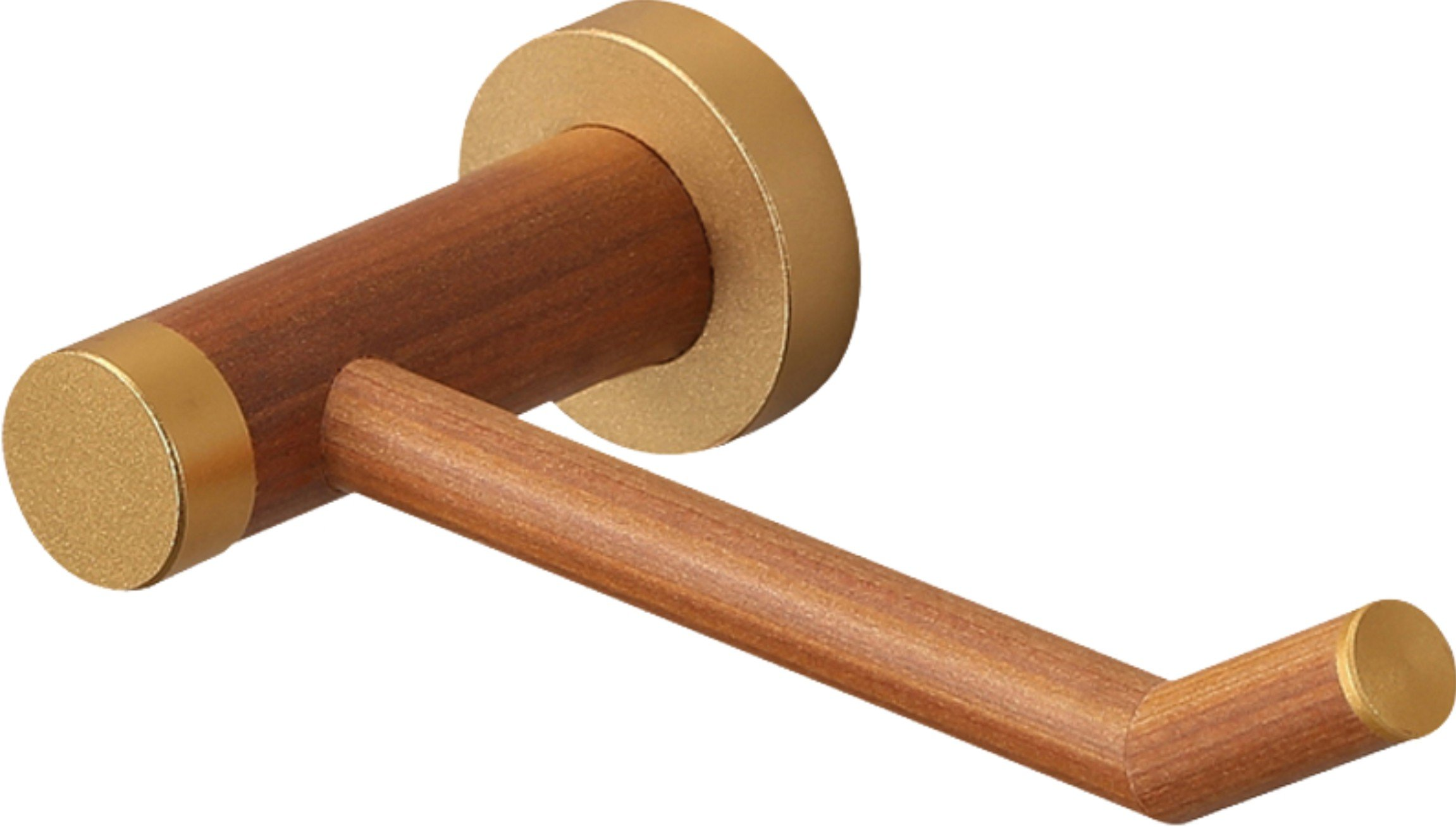 YuanDa Toilet Paper Holder Made of Ecological Wood Tissue Holder with Metal Core Wooden Appearance