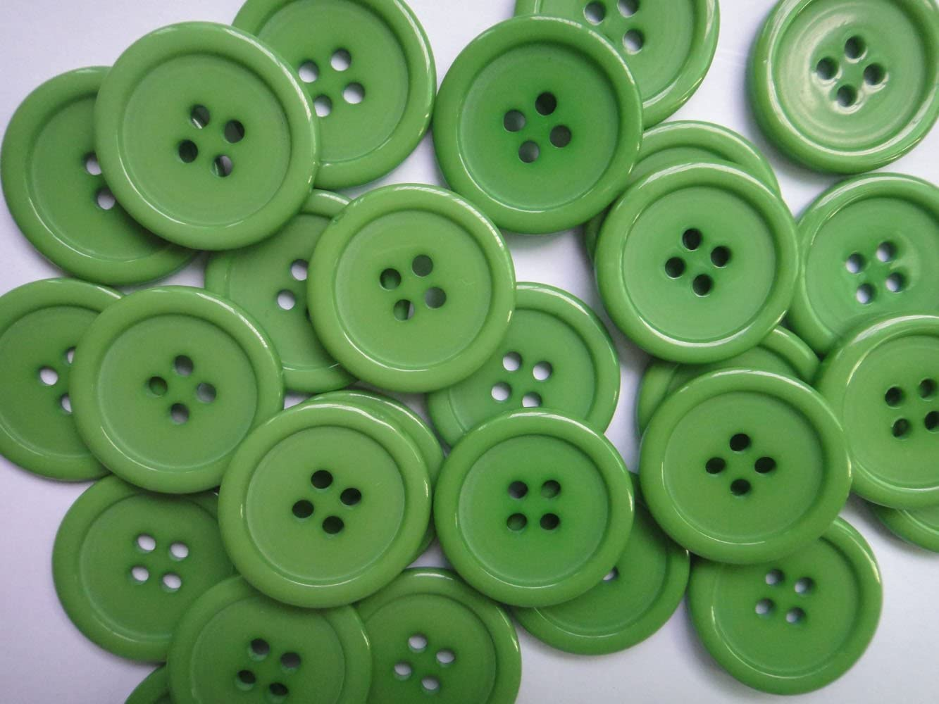 White Lyracces Wholesale Lots 100pcs 18color Pick 25mm Flatback Resin Sewing Clothes Fasteners Buttons