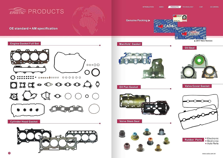 ERISTIC ET893S1 Valve Cover Gasket Set For 1998-2004 Acura Isuzu Honda 3.2L 6VD1 3.5L 6VE1 24V V6 DOHC
