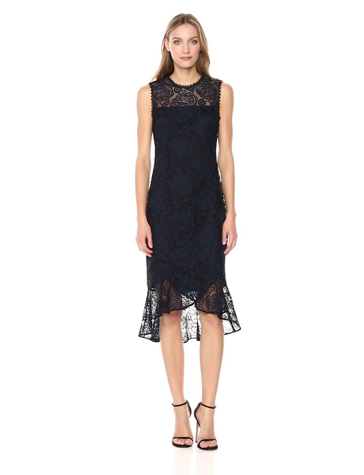 f104deb9affa Amazon.com: Shoshanna Women's Reika Sleevless High-Low Dress,  Navy/Black/Multi, 4: Clothing