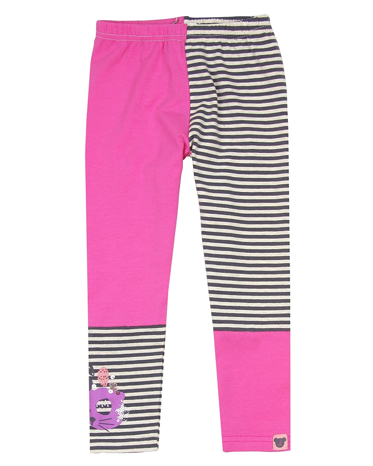 Deux par Deux Girls Pink Two-colour Leggings Cuddles and Hugs Sizes 18M-6