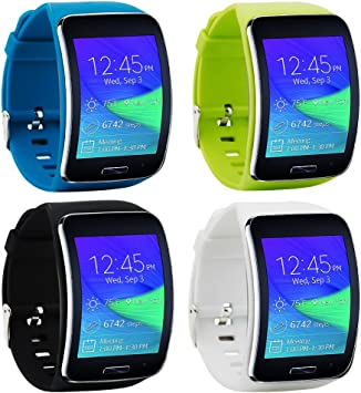 Tkasing Compatible with Samsung Galaxy Gear S R750 Smart Watch Replacement Wristband Bracelet/Free Size Wireless Smartwatch Accessory Band Strap with ...