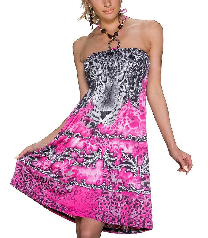 Kleid pink knielang