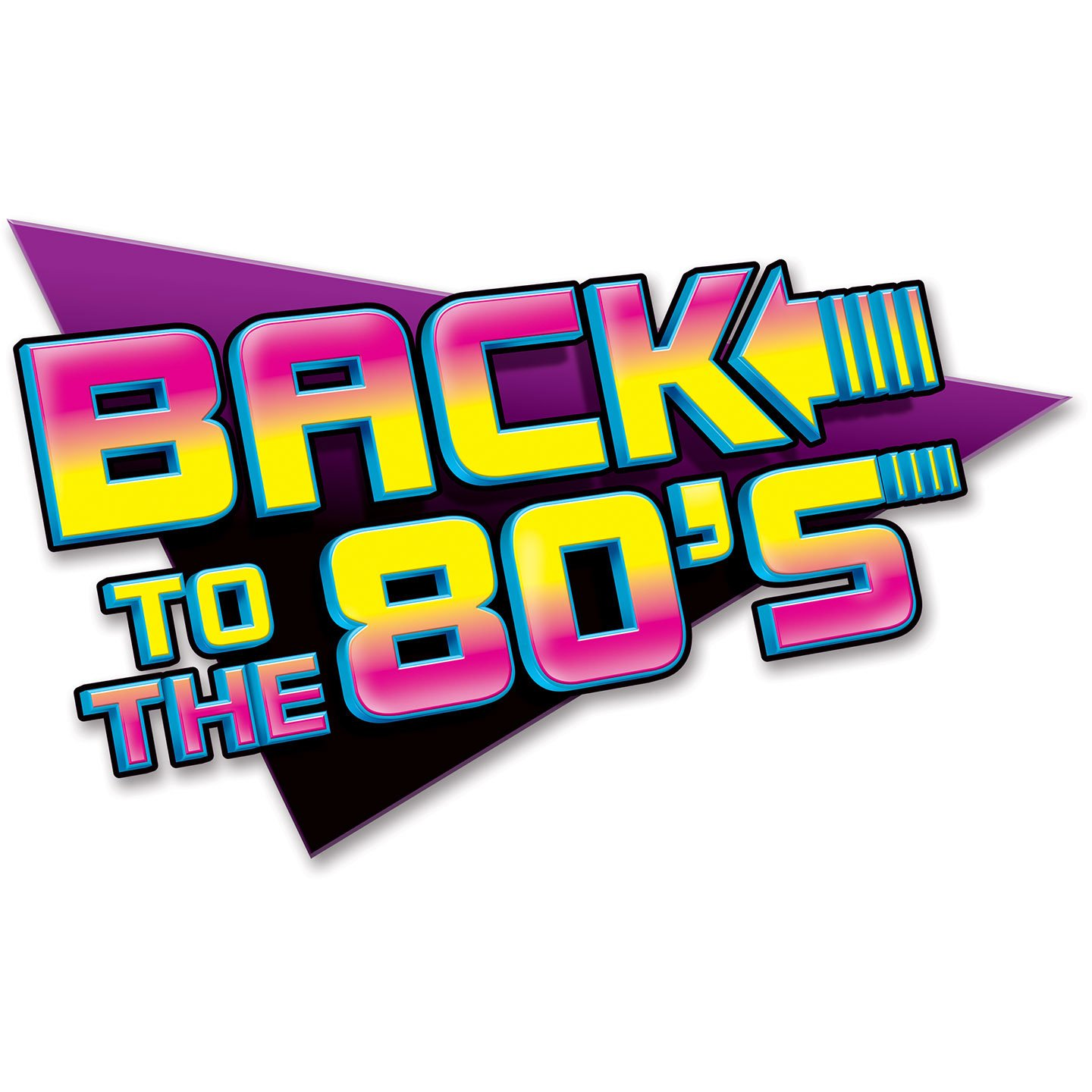 amazon com beistle 54311 1 pack back to the 80 s sign party rh amazon com 80s T-Shirt Logos 80s Logos Clip Art