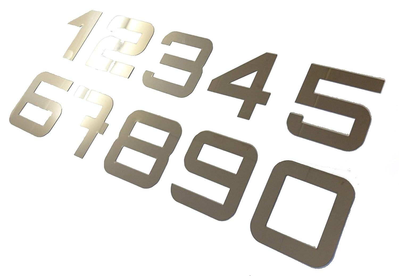 T/ürnummern Hausnumern 0-9 Zahlen aus Edelstahl w/ählbar im modernen Stil 9