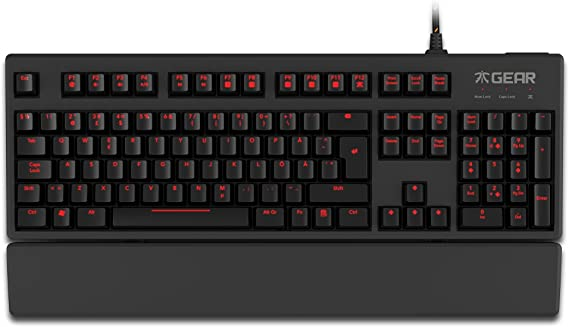 Fnatic Gear Rush LED Backlit Mechanical Pro Gaming Keyboard with Red MX Cherry Switches