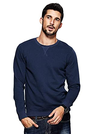 dbf4d1f6e58 fanideaz Men s Round Neck Full Sleeve Cotton Rich Denim Blue Winter T Shirt   Amazon.in  Clothing   Accessories