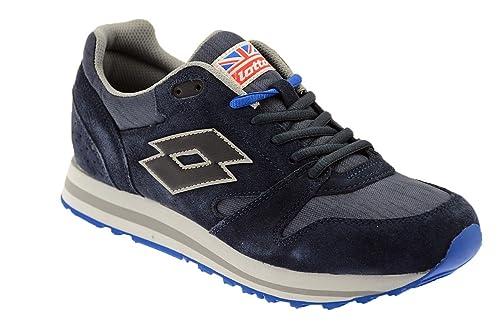 fd202329 Lotto Zapatillas de Nordic Walking de Piel Para Hombre, Color Azul, Talla  42.5: Amazon.es: Zapatos y complementos