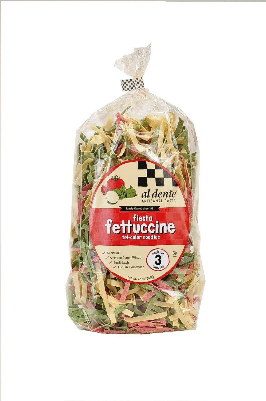 Al Dente Fiesta (tri color) Fettuccine, 12-Ounce Bag (Pack of 2)