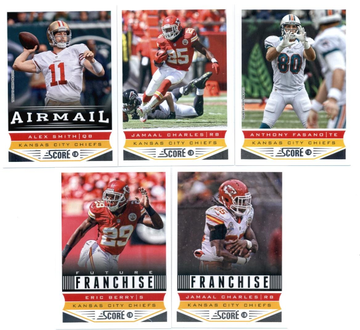 2013 Score Football Cards Kansas City Chiefs Team Set In Collector's