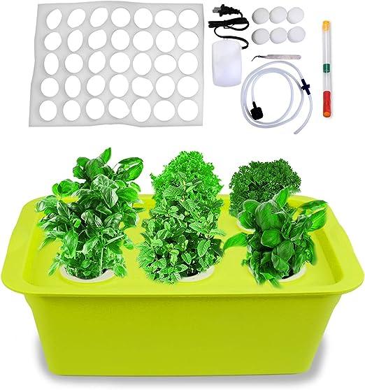 Freehawk - Kit de cultivo hidropónico con bomba de aire, 6 ...