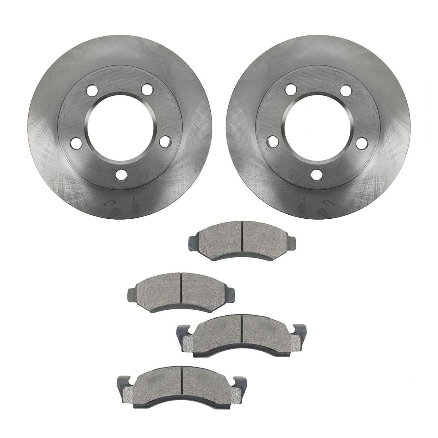 Front Ceramic Brake Pad Set & 2 Rotors Kit For Ford F150 Bronco 4X4 4WD AM Autoparts