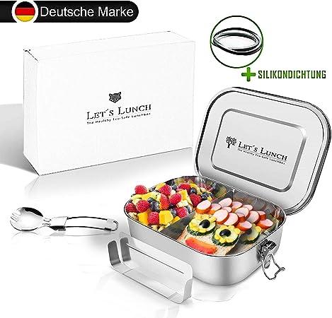 3 Fächer Brotdose Frühstücksdose Schule Lunchbox Kindergarten Löffel Neu