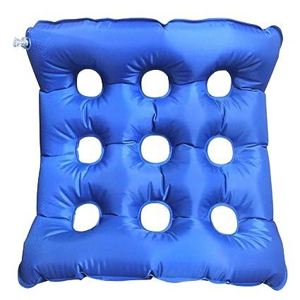 Halovie Almohada aire inflable cojín de médicos coxis Ortopédico PVC amortiguador almohadilla para silla de ruedas Cojín asiento Alivia el Dolor y ...