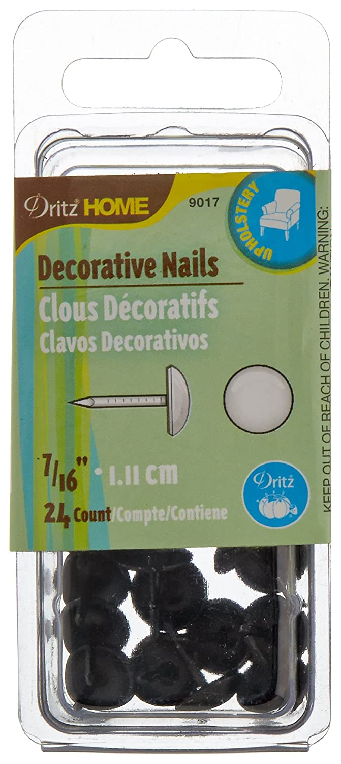 Dritz Home Decorative Nails Part - 22: Amazon.com: Dritz 9017 Upholstery Decorative Smooth Head Nails, Black,  7/16-Inch, 24-Pack: Arts, Crafts U0026 Sewing