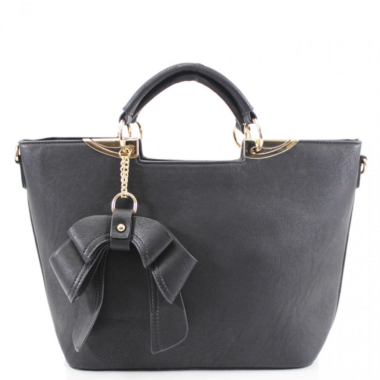 ce16363fd0c LeahWard Women's Bow Charm Handbags Ladies Faux Leather Tote Shoulder Bags  Sale Clearance 853