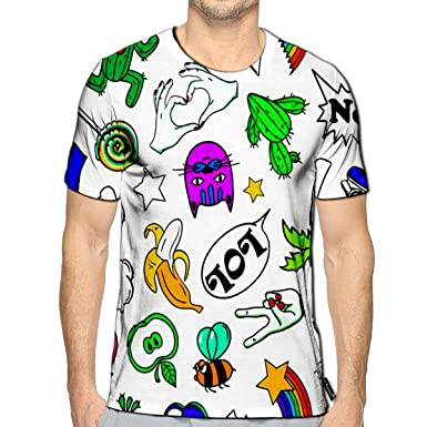 Amazon com: 3D Printed T Shirts Colorful Funny of Fashion