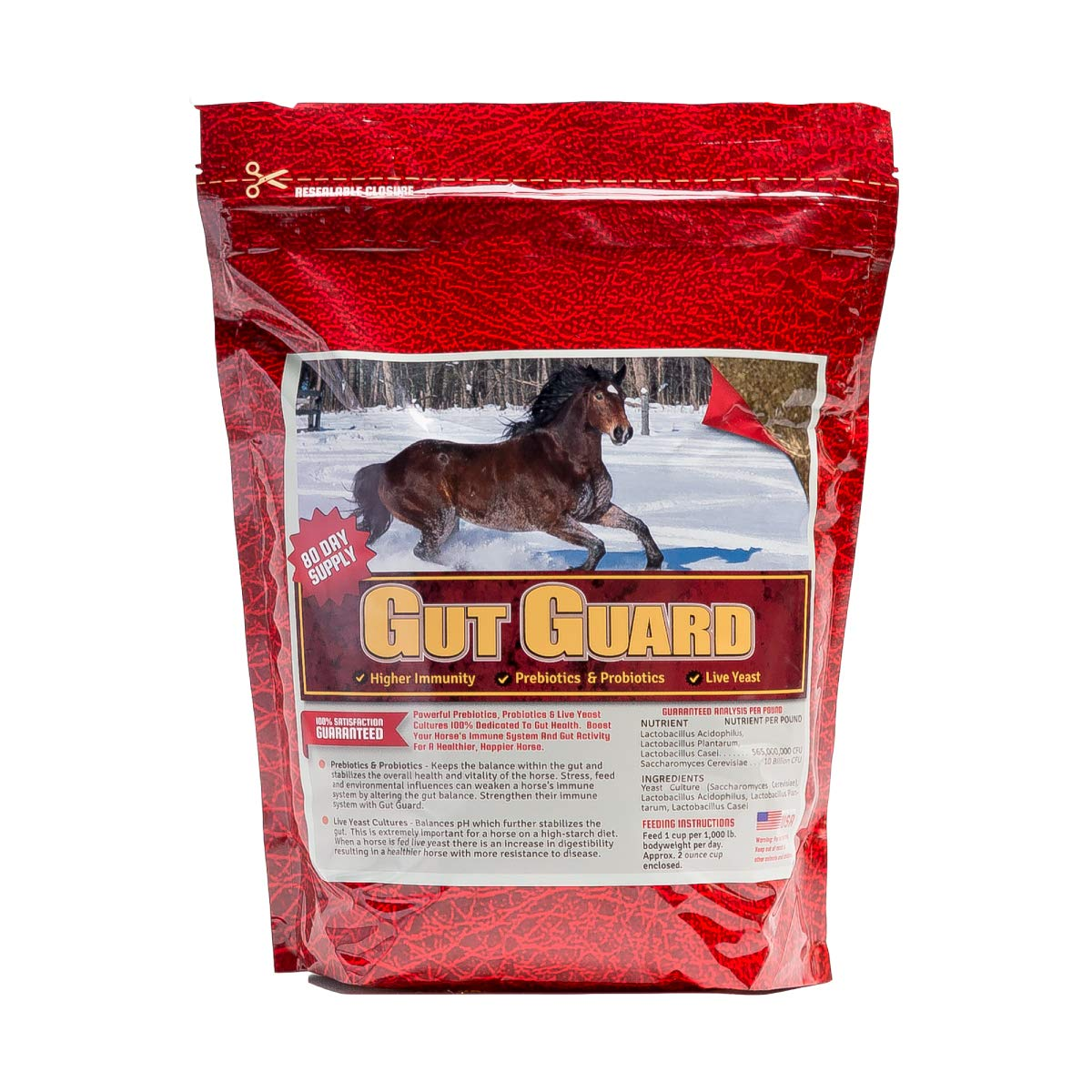 Horse Guard Equine Gut Guard Probiotic and Prebiotic Horse Supplement by Horse Guard (Image #1)