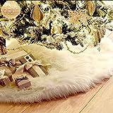 90cm Weihnachtsbaumdecke Weihnachtsdeko Weihnachtsbaum Rock Weiß Plüsch Weihnachtsbaum Decke Weihnachtsbaum Deko