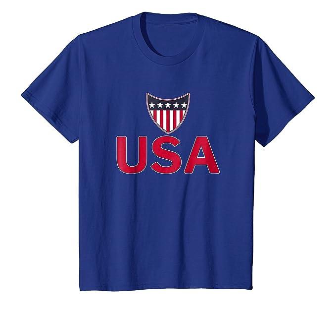 Amazon.com: EE. UU., Color Rojo y Blanco Azul playera La ...