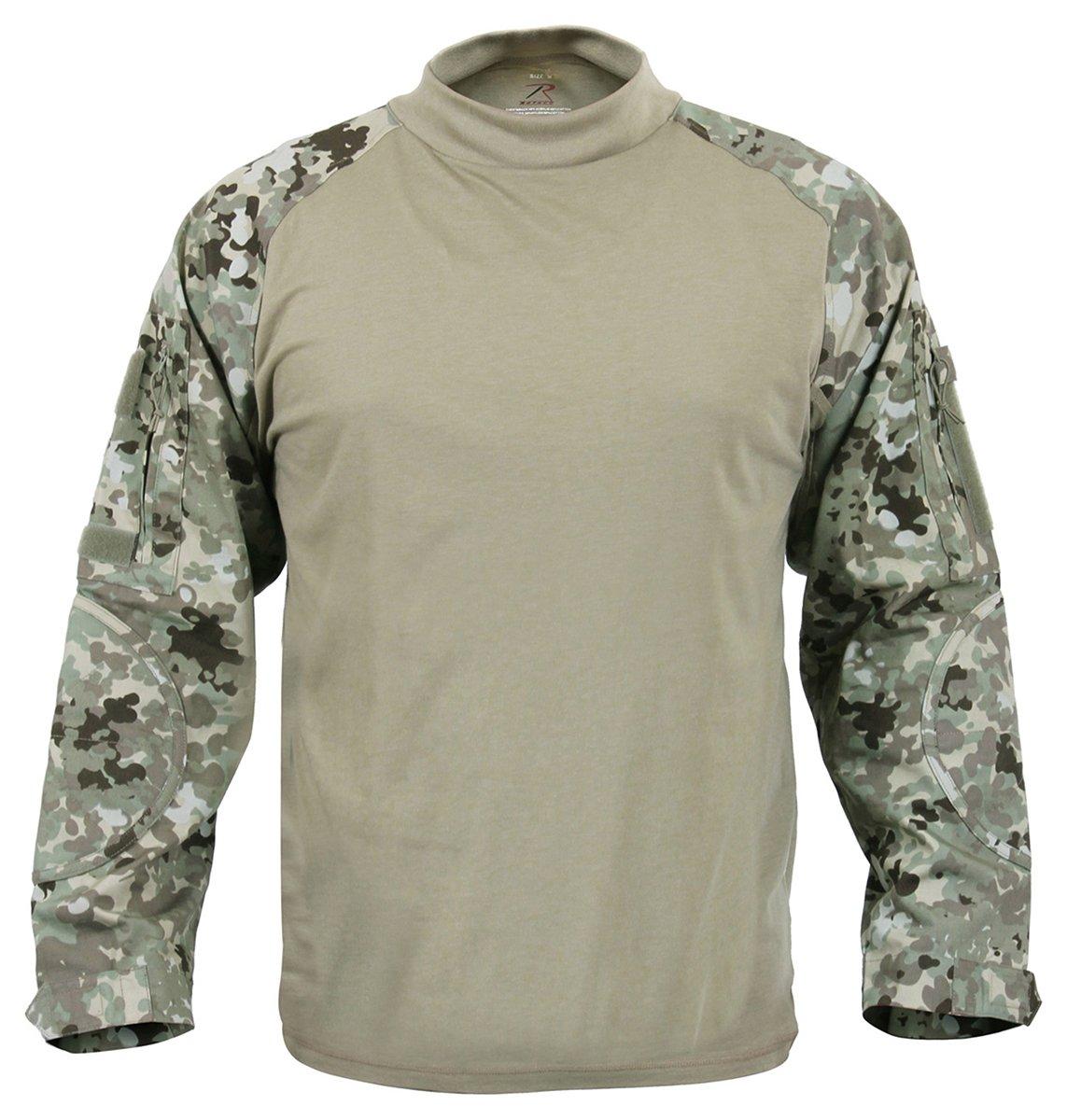 ロスコ ミリタリー コンバットシャツ ブラック ROTHCO MILITARY COMBAT SHIRT - BLACK 90010 B0143JV912 X-Small|Total Terrain Camo Total Terrain Camo X-Small