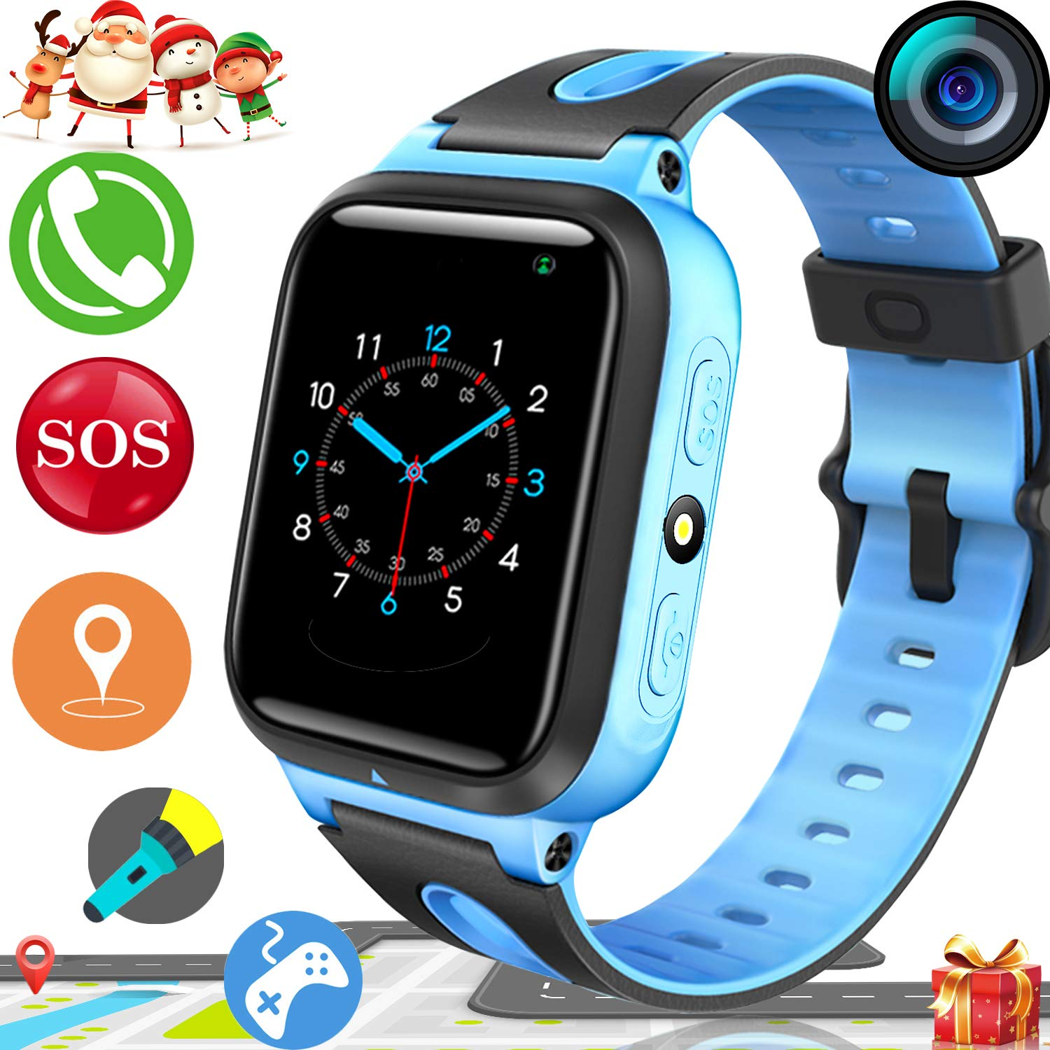 Boys Christmas Presents 2019.2019 Upgrades Kids Smart Watch Phone Gps Tracker For Boys Girls Christmas Gifts Game Watch With Anti Lost Sos Camera Flashlight 1 54 Touch Screen