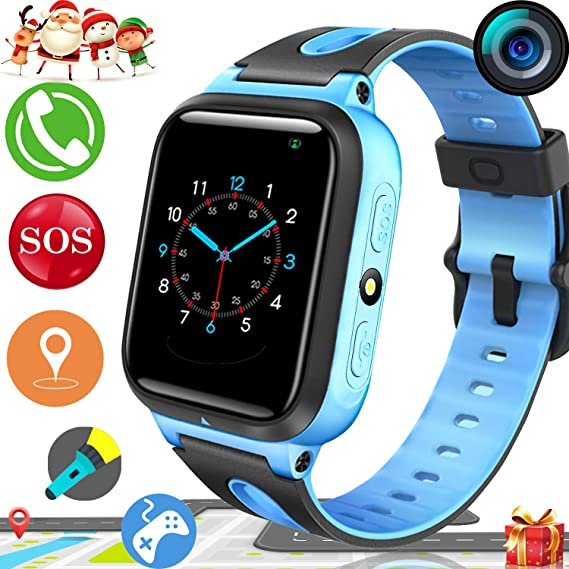 Christmas Gifts For Boys 2019.2019 Upgrades Kids Smart Watch Phone Gps Tracker For Boys Girls Christmas Gifts Game Watch With Anti Lost Sos Camera Flashlight 1 54 Touch Screen