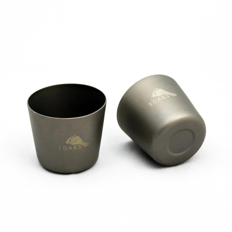 toaks Titanio puro Outdoor Viajes Jarra 150/ml y copa de vino 30ml