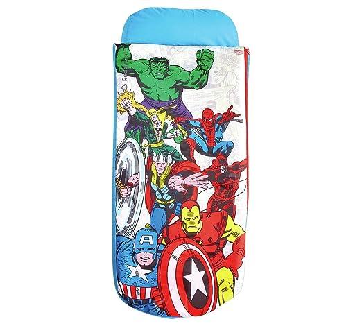 Marvel Vengadores Junior ReadyBed - Cama infantil hinchable y saco ...