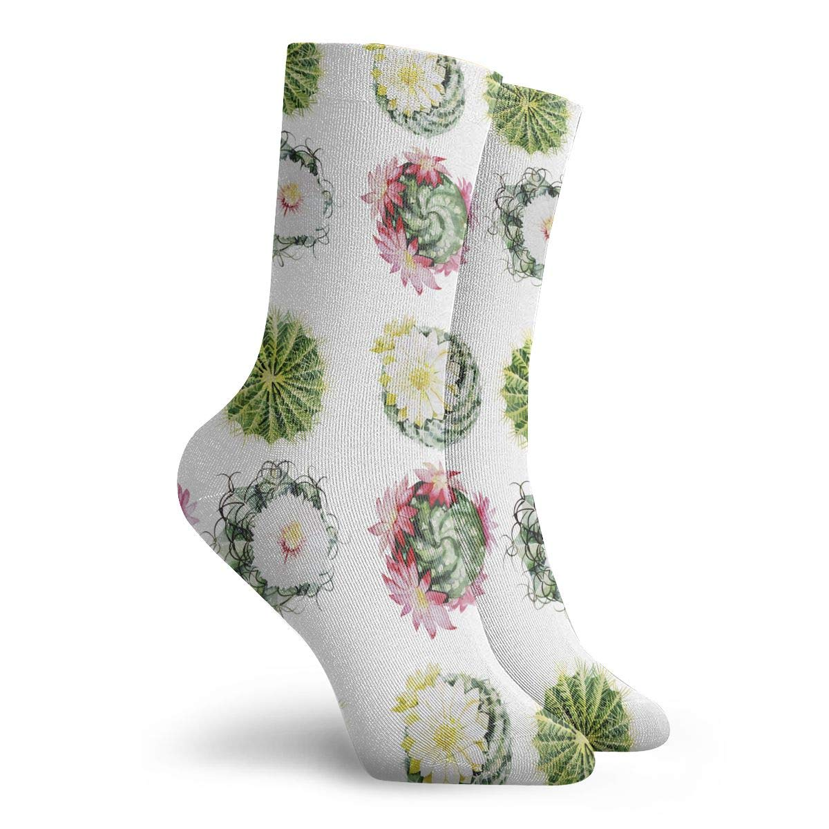 Unisex Watercolor Cactus Set Athletic Quarter Ankle Print Breathable Hiking Running Socks