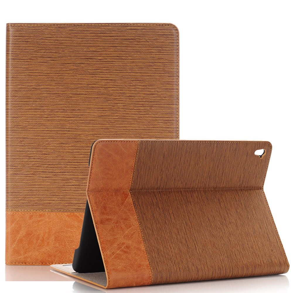Dream Wings iPad 10.2 inch 2019 Case, Slim Stand with Card Slots Magnetic Smart Cover for Apple iPad 10.2'' 7th Generation Tablet (iPad 10.2 2019, Light Brown) by Dream Wings