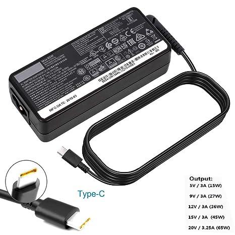 Amazon.com: Cargador USB C AC de 65 W para Lenovo ThinkPad ...