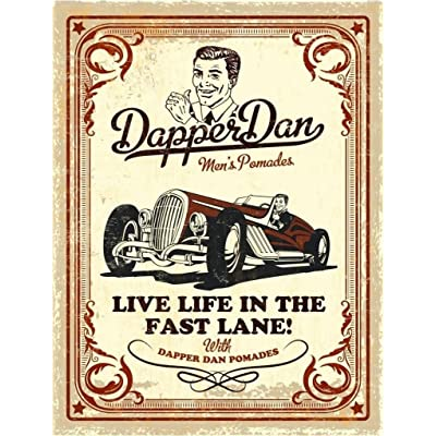 Metal Embossed Cream Wall Sign By Dapper Dan, Perfect for Barbers, 400mm x 300mm