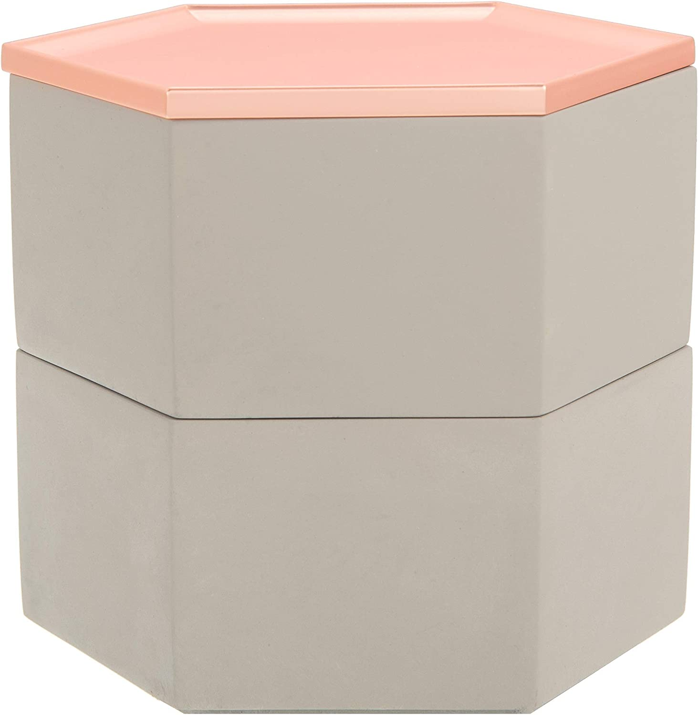 Jewellery Box Concrete Decoration Rose Gold Grey Women I Watch Storage Box Galeara Grey Amazon Co Uk Jewellery
