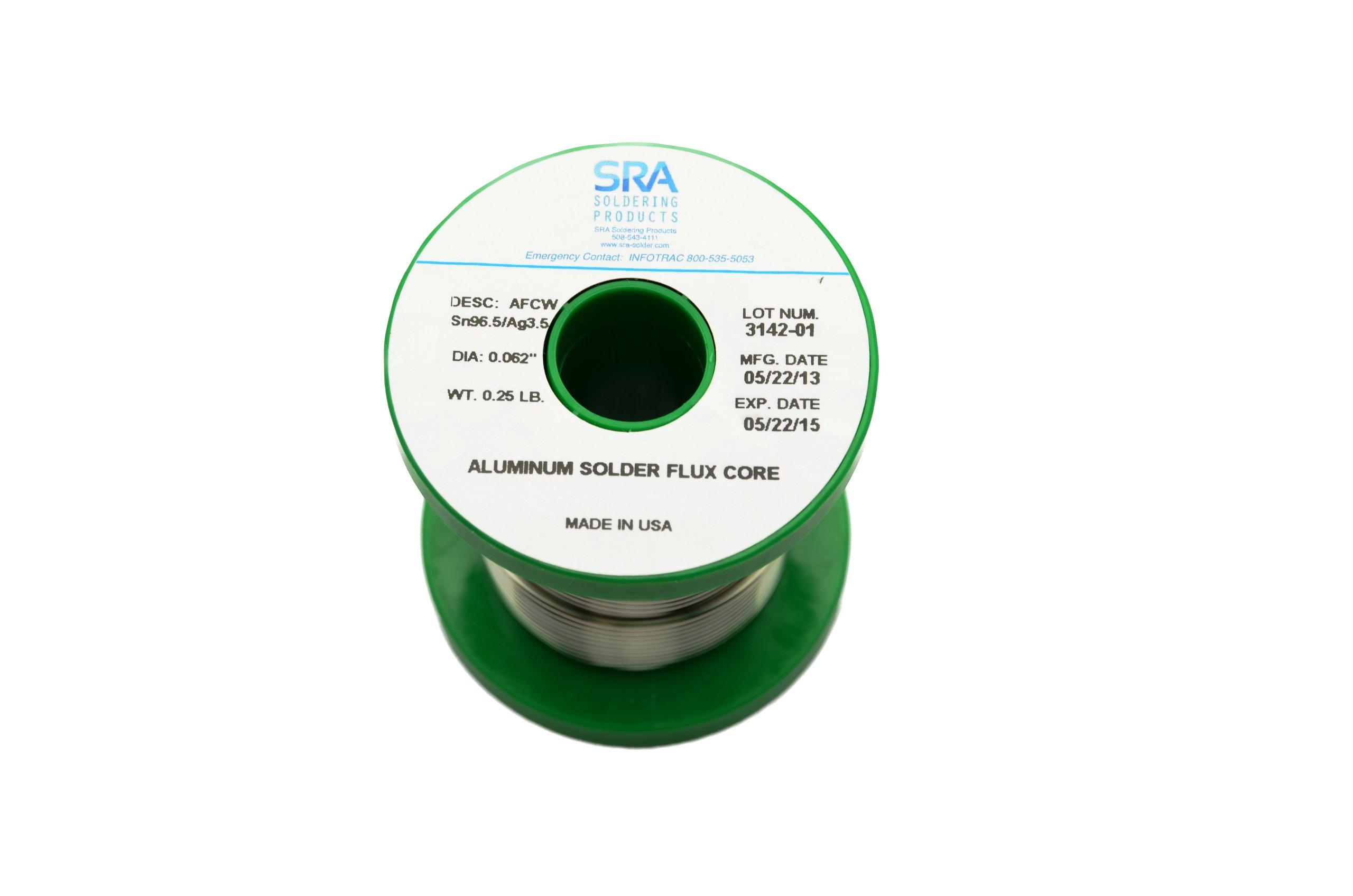Aluminum Solder Wire 96.5 Sn/3.5Ag .062 Flux Core