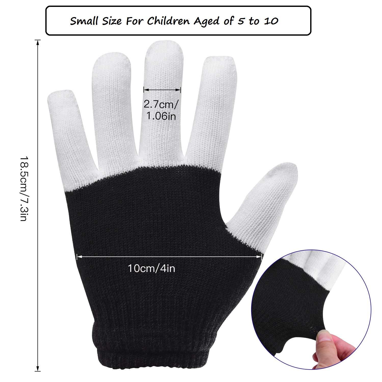 Charlemain LED Handschuhe mit 6 Modus, blinkende Handschuhe Spielzeug für Feiertag, Weihnachten, Halloween Kostüm Beleuchtung, kleine Handschuhe für Kinder, Mädchen, Junge, Geschenk(5-10 Jahren)