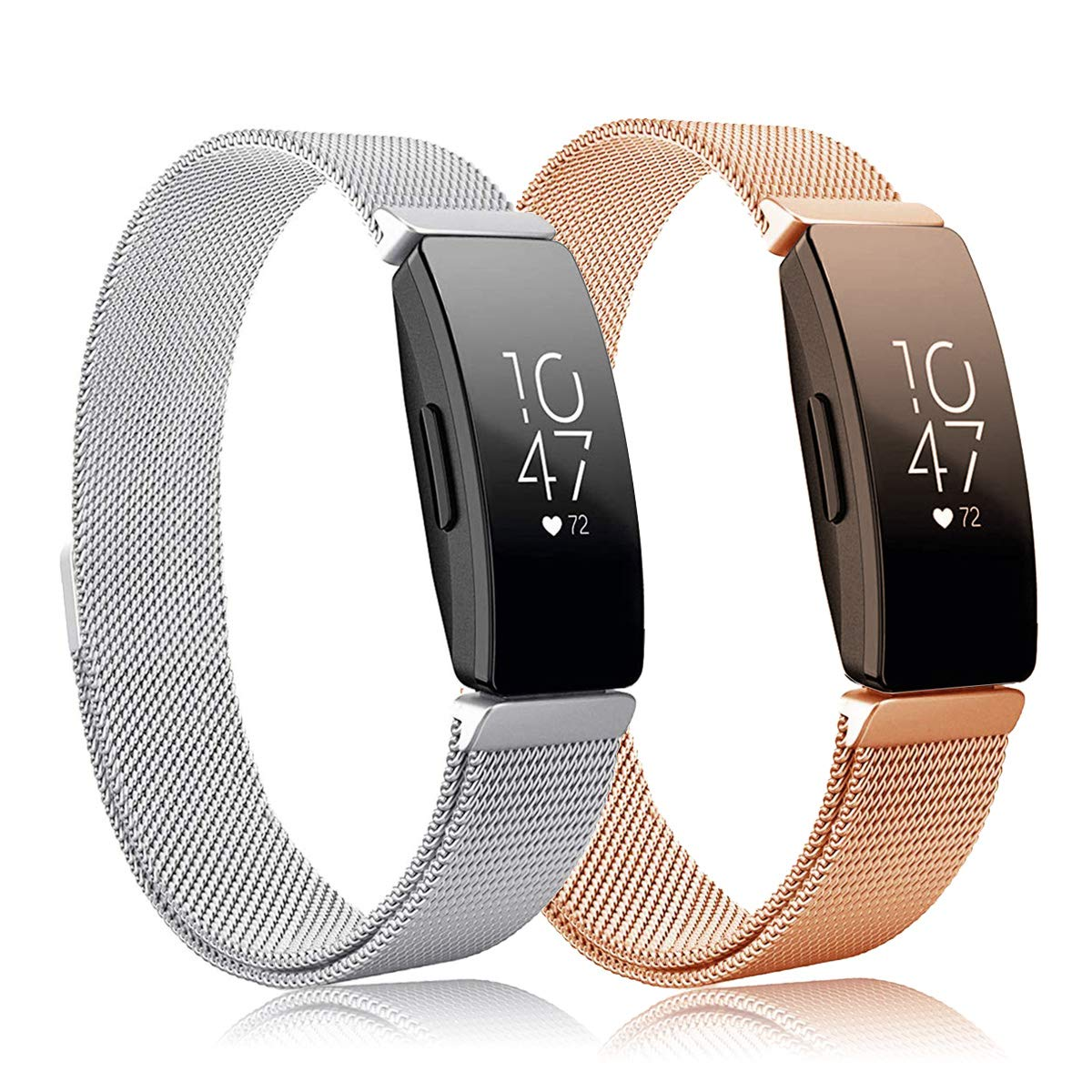 Intoval Bands Compatible with Fitbit Inspire HR Bands/Fitbit Inspire Band,Inspire hr Metal Stainless Steel Magnetic Men Women Replacement Bands for Fitbit Inspire & Inspire HR Fitness Tracker. by Intoval
