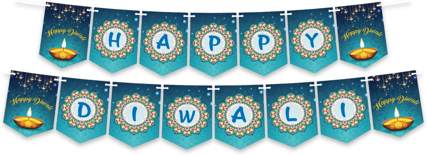 Happy Diwali Banner Decoration, Party Decoration, Diwali Decorations, Bunting Banner