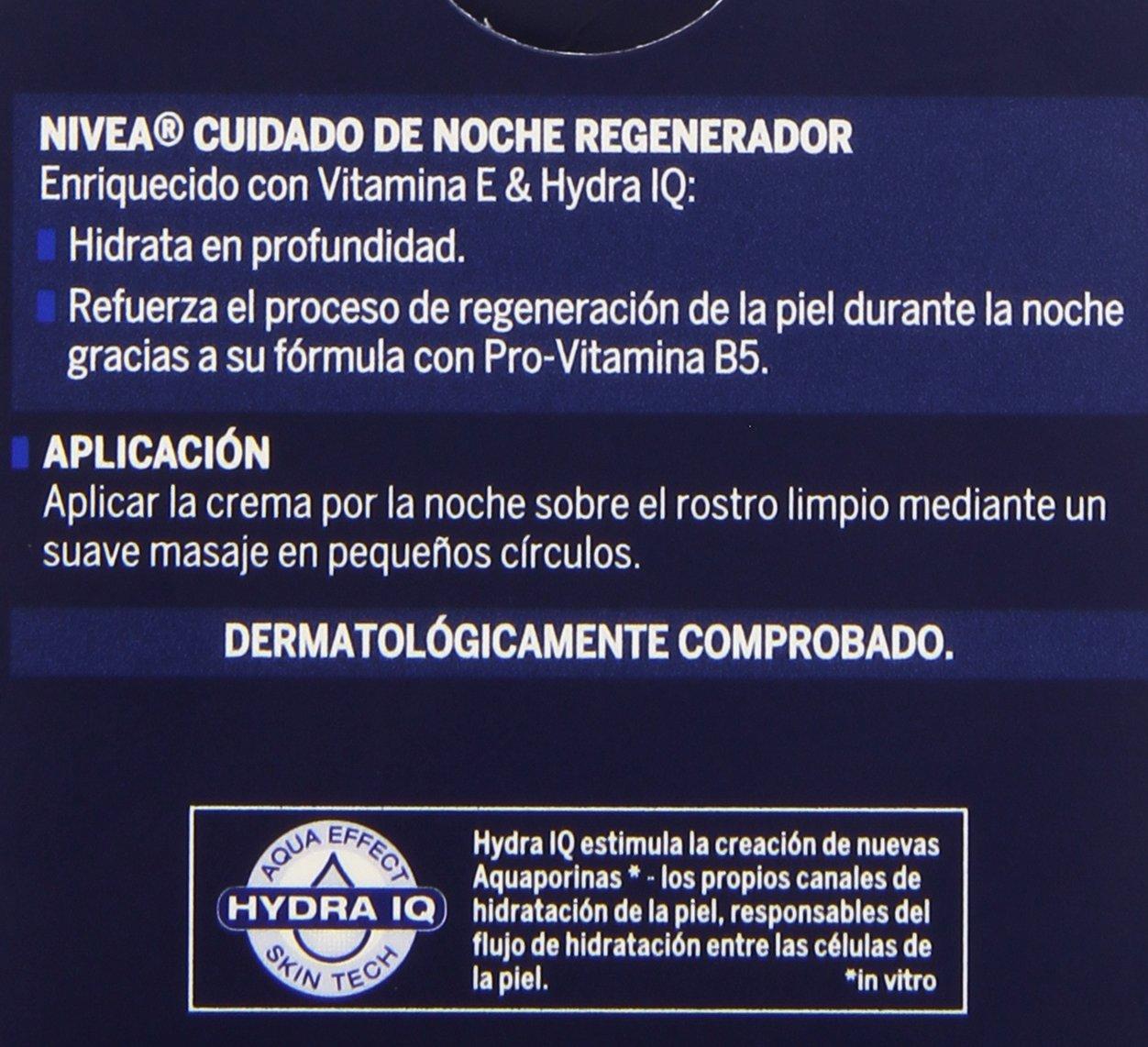 Nivea - Crema para cara y rostro de noche regeneradora para piel normal y mixta - 50 ml: Amazon.es: Belleza