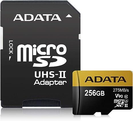 Amazon.com: ADATA Premier ONE 256GB SDXC UHS-II U3 Class10 ...