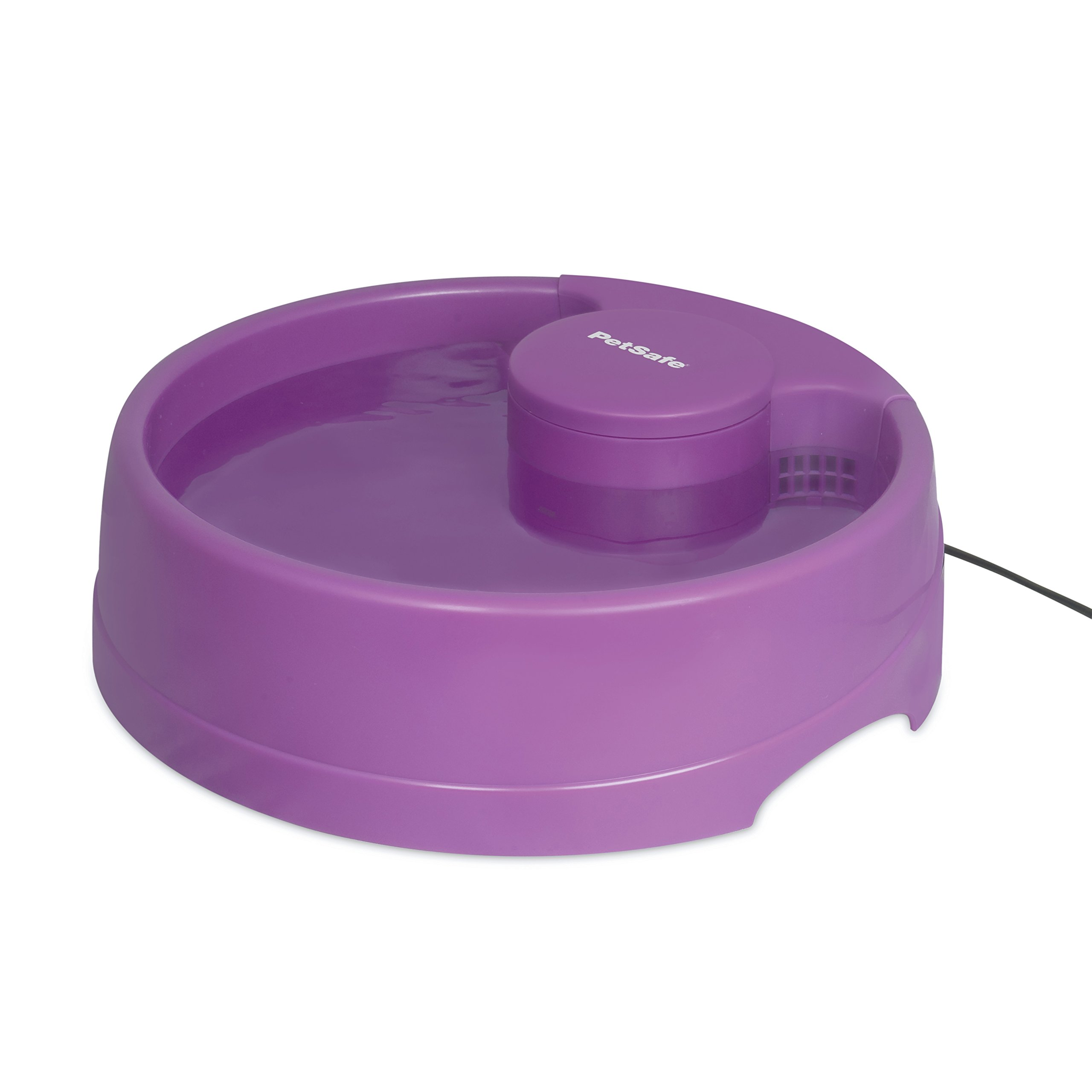 PetSafe Current Pet Water Fountain, Circulating Drinking Fountain for Cats and Dogs, Large, Purple, 120 oz. Water Capacity