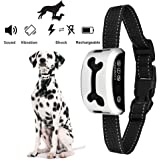 COSEZIN Dogs Bark Collar Dogs Training Collar with Beep Vibration and No Harm Shock 7 Adjustable Level for Tiny to Huge Dogs Rain Proof Rechargeable Anti Barking Collar