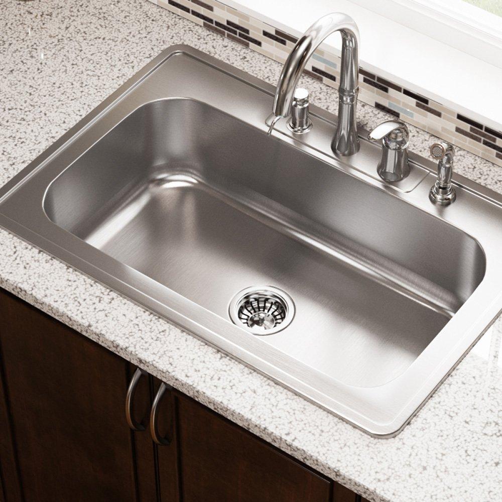 Us1030t 20 gauge topmount single bowl stainless steel kitchen sink us1030t 20 gauge topmount single bowl stainless steel kitchen sink amazon workwithnaturefo
