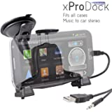 ?iBOLT xProDock Active Car Dock/Holder/Mount for Samsung Galaxy S3, S4, Note 2 & Note 3 with aux-out to car-speakers. Works with ALL Cases and extended Batteries.