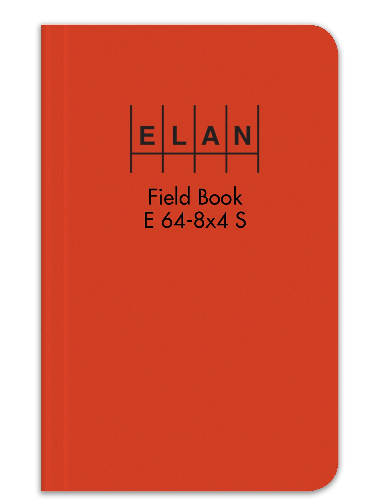 Elan Publishing Company E64-8x4S Sewn Field Surveying Book 4 5/8 x 7 1/4   Orange Stiff Cover (Pack of 48)