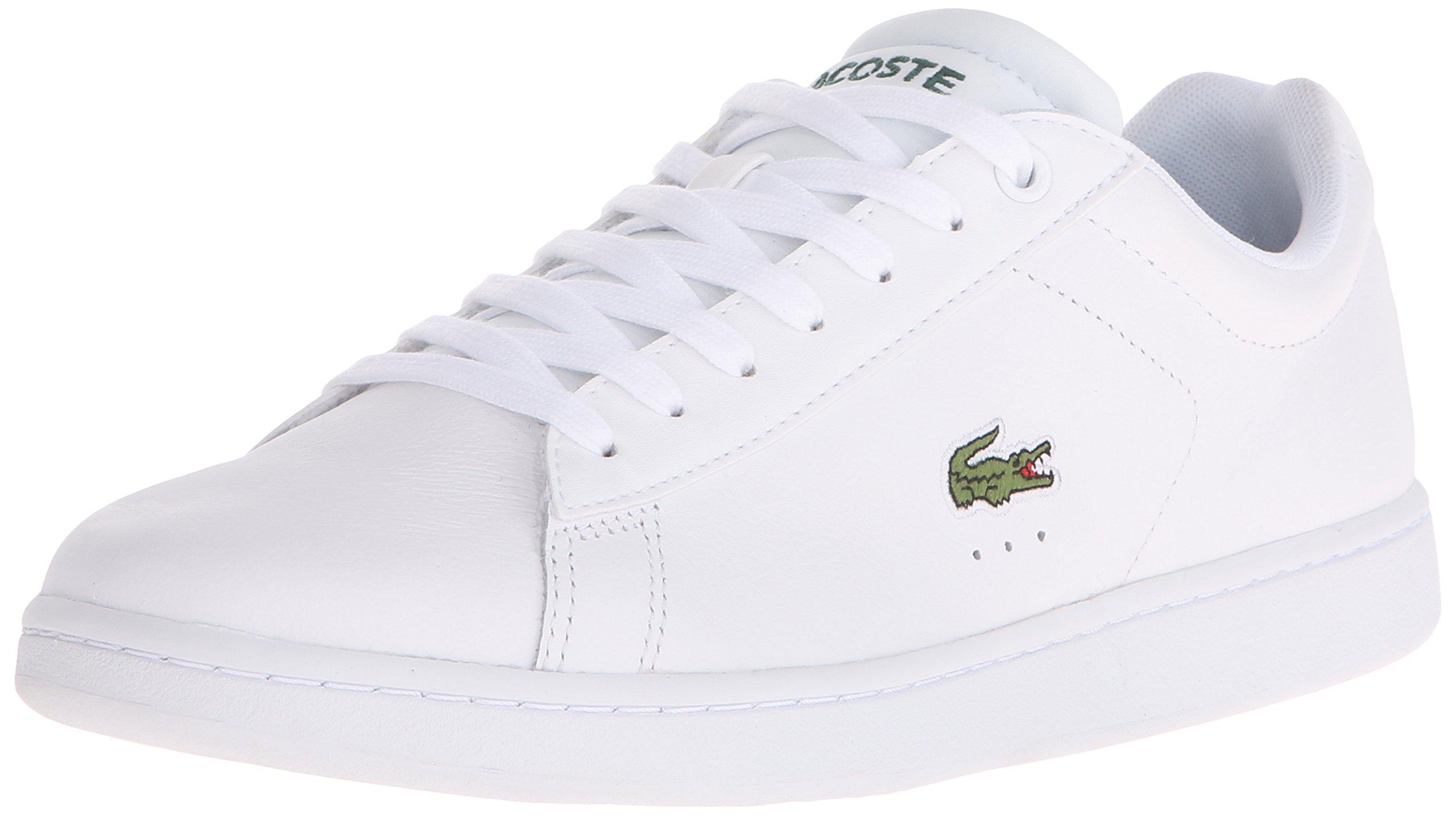 Lacoste Men's Carnaby EVO LCR Casual Shoe Fashion Sneaker, White, 9 M US