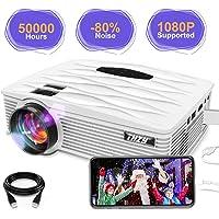 THZY Projecteur Retroprojecteur Video Mini Projecteur Mini videoprojecteur HDMI LED Multimédia 1080p,avec Amazon Fire TV iphone, Android